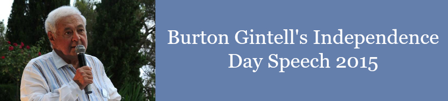 Burton Gintell speech on Independence Day at 4 July party