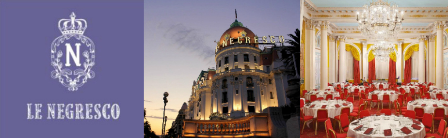 Thursday 23 November 12.30pm – Our Traditional Thanksgiving Celebration lunch at the famous Hotel Le Negresco in Nice.