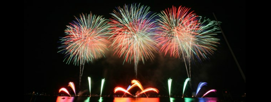 Friday 24th August – Annual Cannes Pyrotechnic Art Festival and Dinner on the Croisette Beach