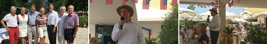 Consul General Simon R. Hankinson attended & gave a speech at our 4th July Celebration