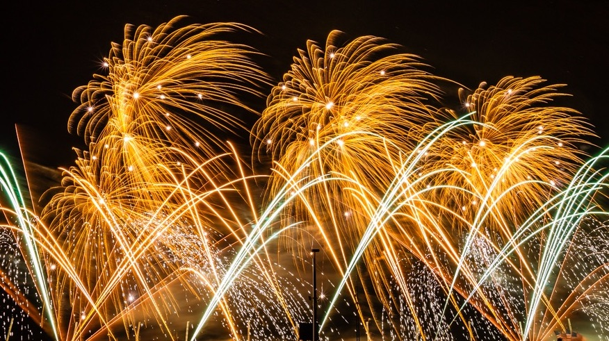 August 2019 – Annual Cannes Pyrotechnic Art Festival and dinner on the Croisette Beach