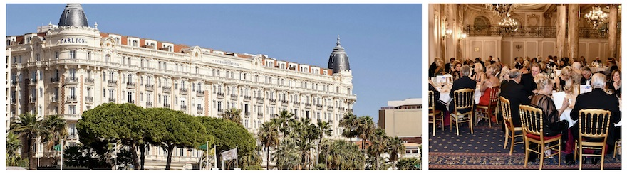 Annual Gala Dinner-Dance was held at the luxurious Carlton Hotel in Cannes on September 21st